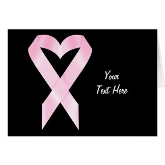 Breast Cancer Ribbon (customizable) Card