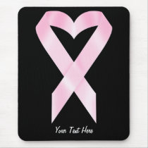 Breast Cancer Ribbon (customizable) Mouse Pad