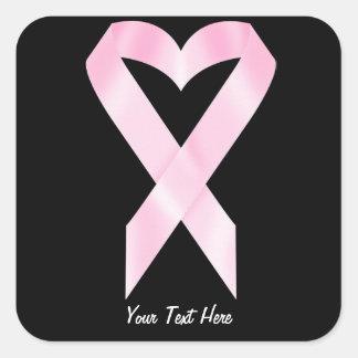 Breast Cancer Ribbon (customizable) Square Sticker