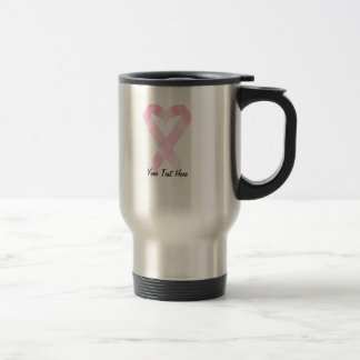 Breast Cancer Ribbon (customizable) Travel Mug