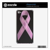 Breast Cancer Ribbon Decal For iPhone 4S