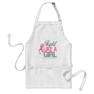 Breast Cancer Ribbon - Fight Like a GIRL Apron