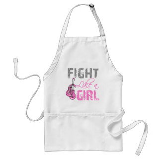 Breast Cancer Ribbon Gloves Fight Like a Girl Apron