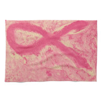 Breast Cancer Ribbon Hand Towel