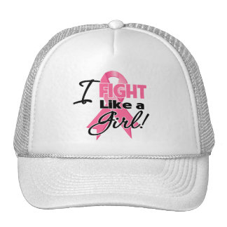 Breast Cancer Ribbon - I Fight Like a Girl Hat