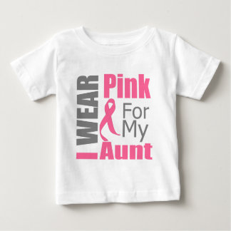 Breast Cancer Ribbon I Wear Pink Aunt Tees