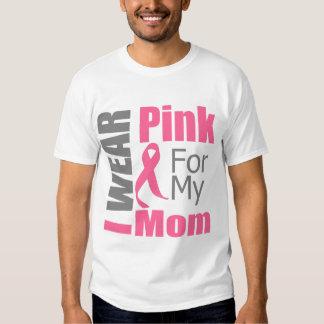 Breast Cancer Ribbon I Wear Pink Mom Tee Shirt