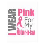 Breast Cancer Ribbon I Wear Pink Mother-in-Law Postcard