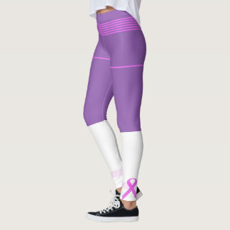 Breast Cancer Ribbon Leggings