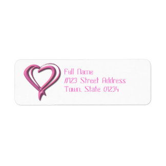 Breast Cancer Ribbon Mailing Labels