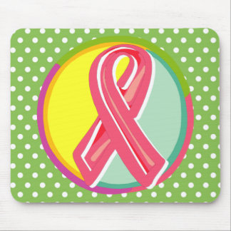 Breast Cancer Ribbon Mouse Pad