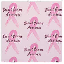 Breast Cancer Ribbon of Hope Fabric