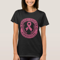 Breast Cancer Ribbon Pink Awareness Strong Women M T-Shirt