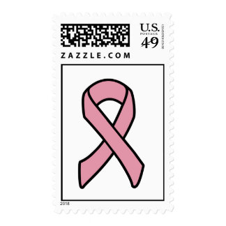 breast cancer ribbon postage