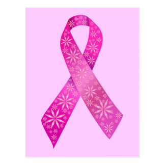 Breast Cancer Ribbon Postcard