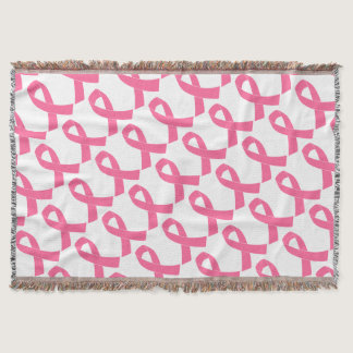 breast-cancer-ribbon throw blanket
