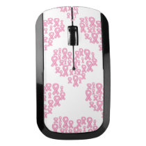 BREAST CANCER RIBBON WIRELESS MOUSE