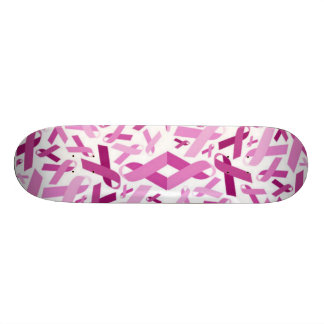 Breast Cancer Ribbons skateboard
