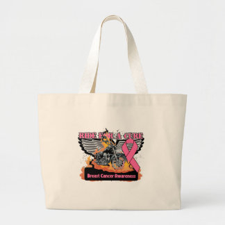 Breast Cancer Ride For a Cure Tote Bag