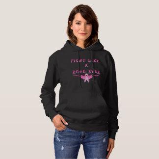 Breast Cancer Rock Star Ladies Hoodie