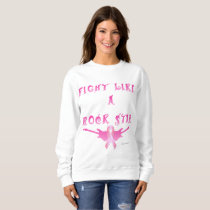 Breast Cancer Rock Star Ladies Sweatshirt
