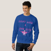 Breast Cancer Rock Star Men's Sweatshirt