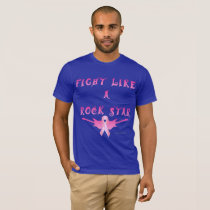 Breast Cancer Rock Star Men's T-Shirt