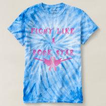Breast Cancer Rock Star Men's Tie-Dye T-Shirt