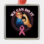 Breast Cancer - Rosie The Riveter - We Can Do It Ornament