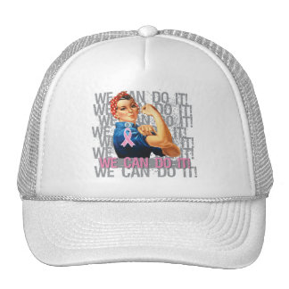Breast Cancer Rosie WE CAN DO IT Mesh Hats