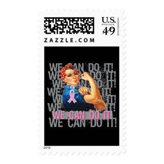 Breast Cancer Rosie WE CAN DO IT Postage Stamp