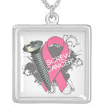 Breast Cancer - Screw Cancer Pendants