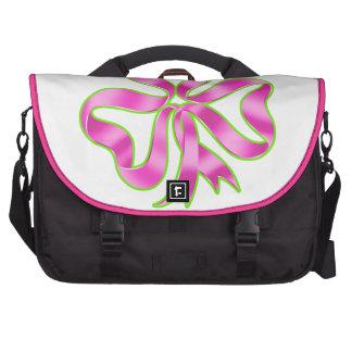 Breast Cancer Shamrock Ribbon Laptop Messenger Bag