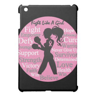 Breast Cancer Silhouette Collage Fight Like a Girl Cover For The iPad Mini