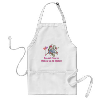 Breast Cancer Sisters Adult Apron