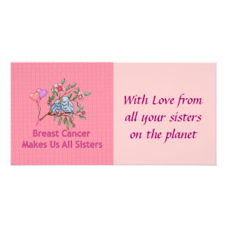 Breast Cancer Sisters Photo Card