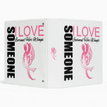 Breast Cancer Someone I Love Earned Her Wings Vinyl Binders