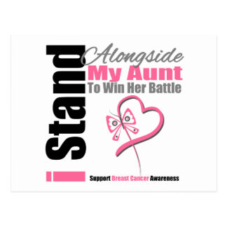 Breast Cancer Stand Alongside My Aunt Postcard