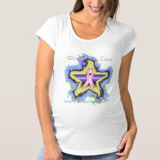 Breast Cancer Star Wish Maternity T-Shirt