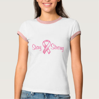 Breast Cancer Stay Strong Pink Ribbon T-Shirt