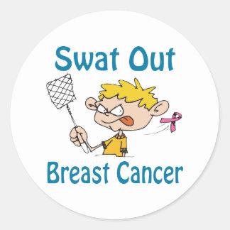 Breast-Cancer Classic Round Sticker