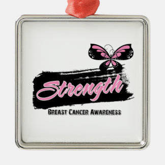 Breast Cancer Strength Butterfly Ornaments