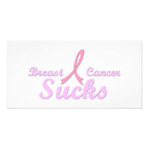 Breast cancer sucks photo card template