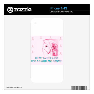 Breast Cancer Sucks Sad Anime Face Decals For The iPhone 4S