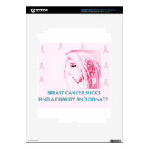 Breast Cancer Sucks Sad Anime Face iPad 3 Skins