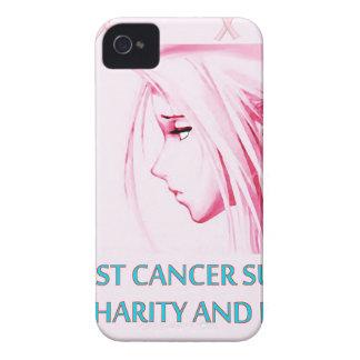 Breast Cancer Sucks Sad Anime Face iPhone 4 Case-Mate Cases