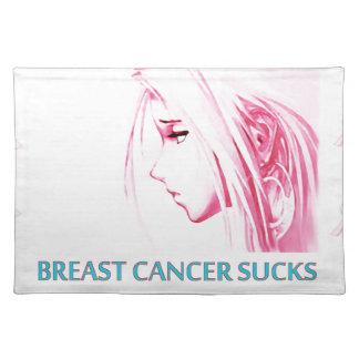 Breast Cancer Sucks Sad Anime Face Placemat