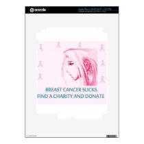 Breast Cancer Sucks Sad Anime Face Skin For iPad 3