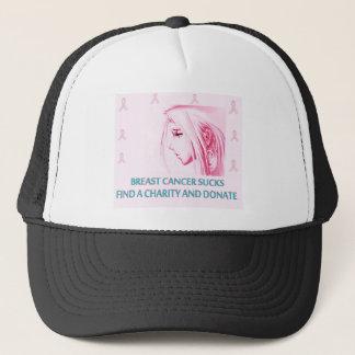 Breast Cancer Sucks Sad Anime Face Trucker Hat