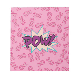 Breast Cancer Super Hero Notepad